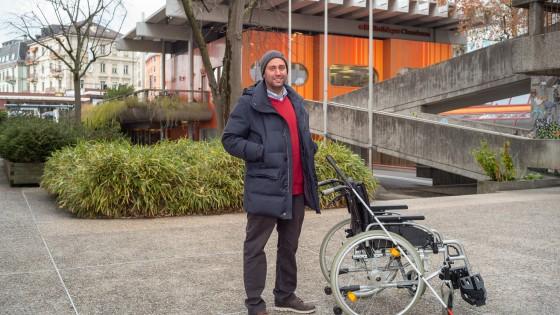 David Rodriguez, coordinateur en matière d'accessibilité universelle à la Ville de Lausanne, insertion professionnelle